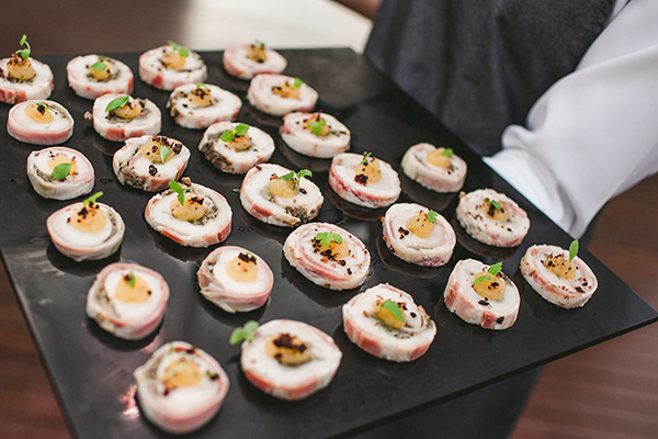 Catering tray of canapes funerals and wakes